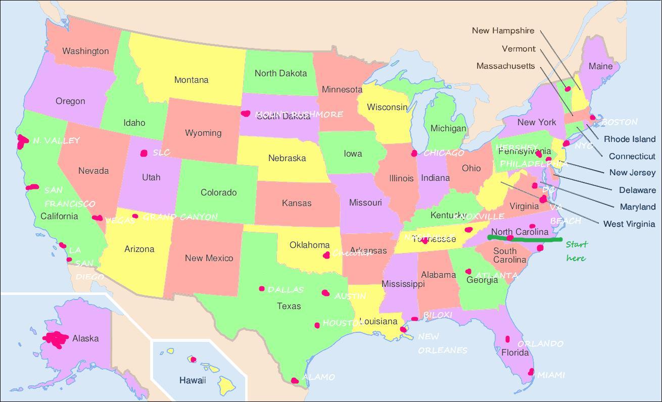 Philadelphia map-usa - Vereinigte Staaten-map-Philadelphia ...