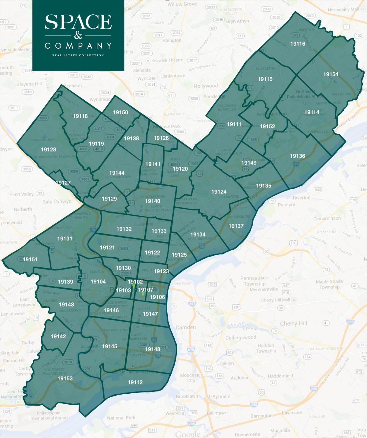 Philadelphia zip code map - Zip code map-Philadelphia ...